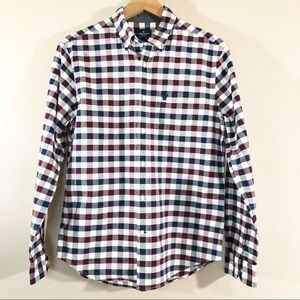 AEO Plaid Check Classic Fit long sleeve button-up